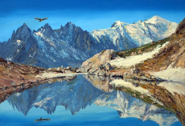 le lac blanc et les aiguilles de chamonix lightbox
