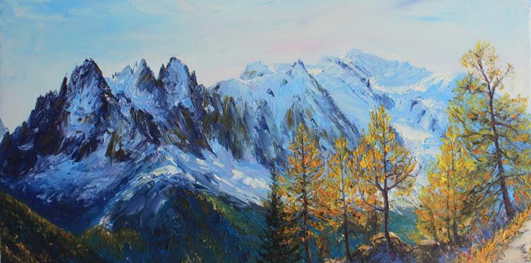 les aiguilles de chamonix et le mont blanc depuis les dalles de chéserys lightbox