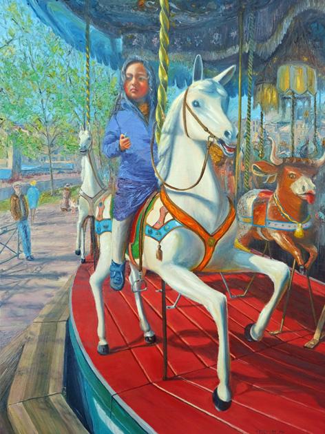 lilly sur les chevaux de bois lightbox