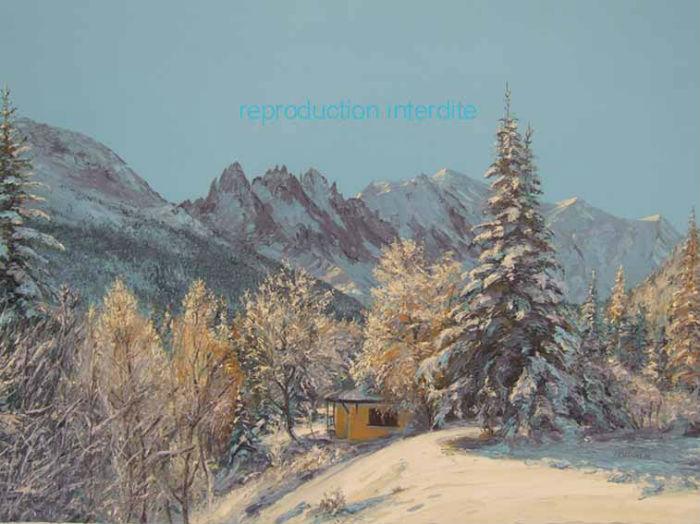 premières neiges Montroc lightbox